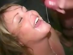 British, Bukkake, Facial, Milf